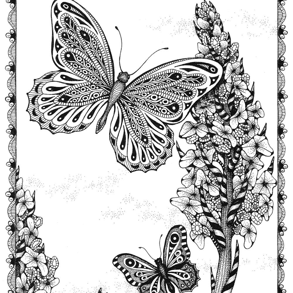 Butterflies hollyhocks lsvffs