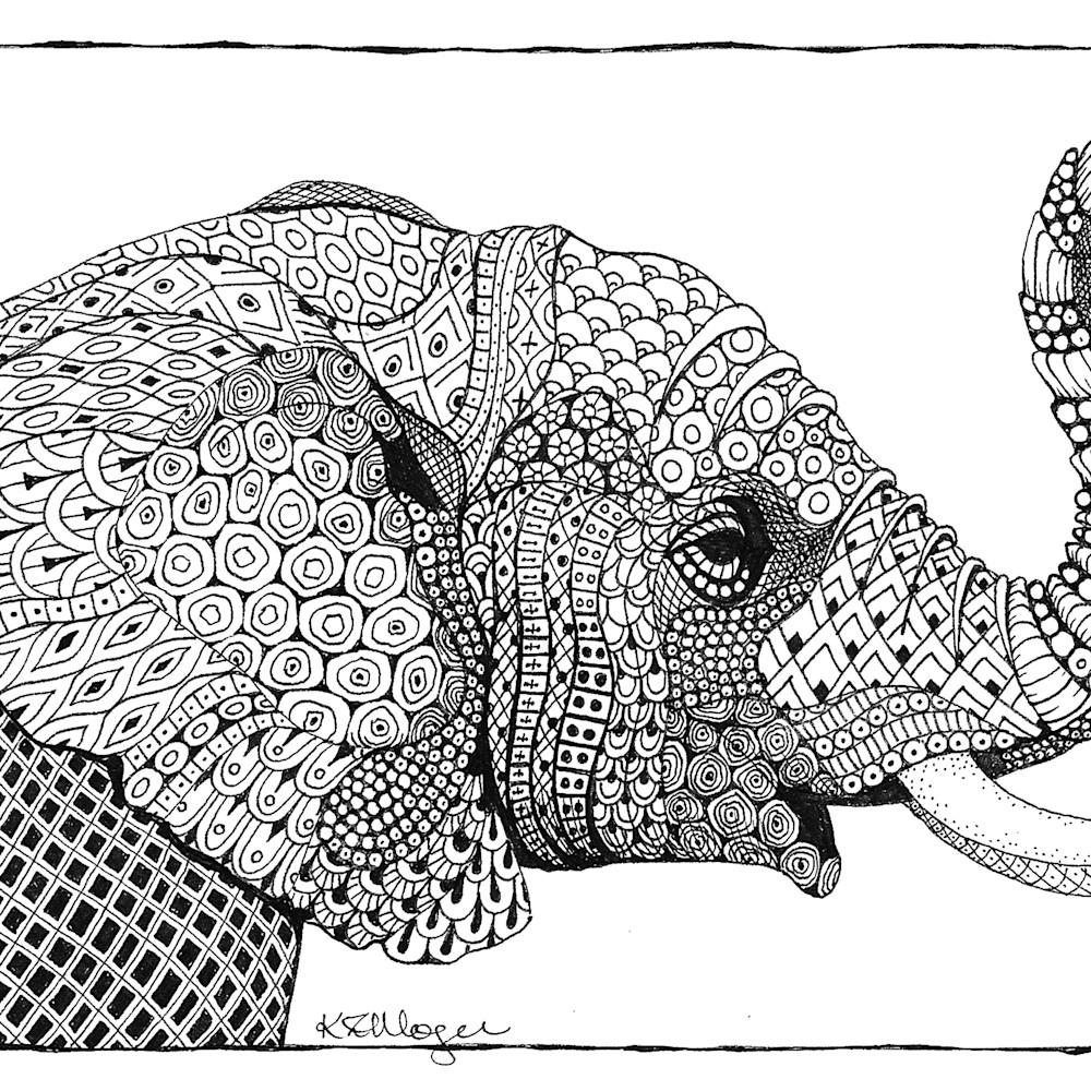 African elephant profile  b w rmddlw