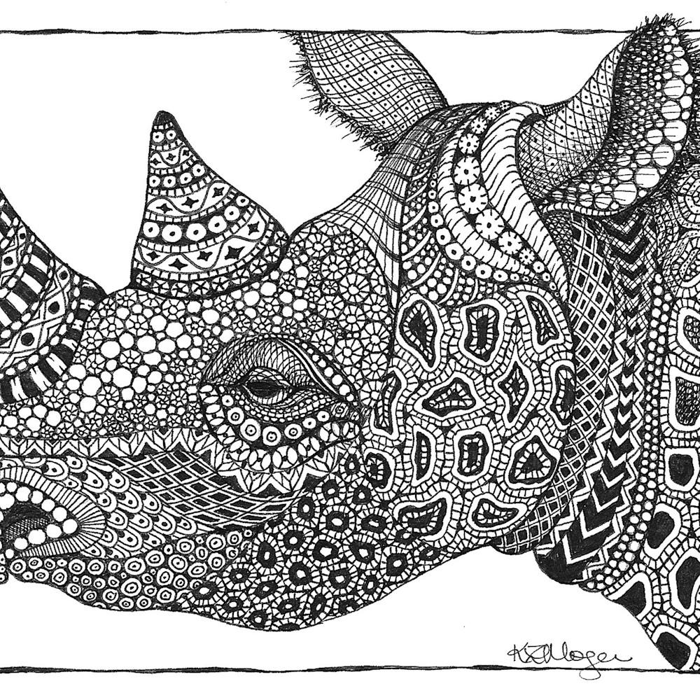 Black rhino  b w tpiazj