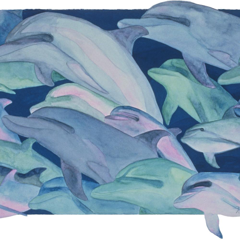 Dee van houten dolphins gouache hzagsj