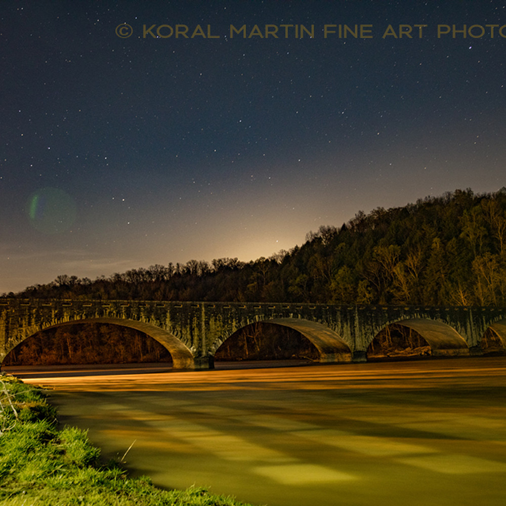 Cumberland falls bridge night 8437 koral martin tjhw5v