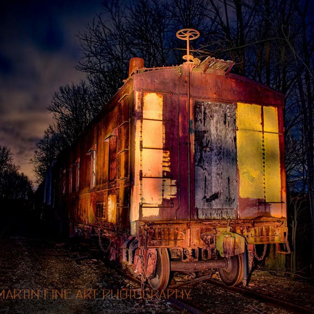 Old train light painting koral martin e9keg6