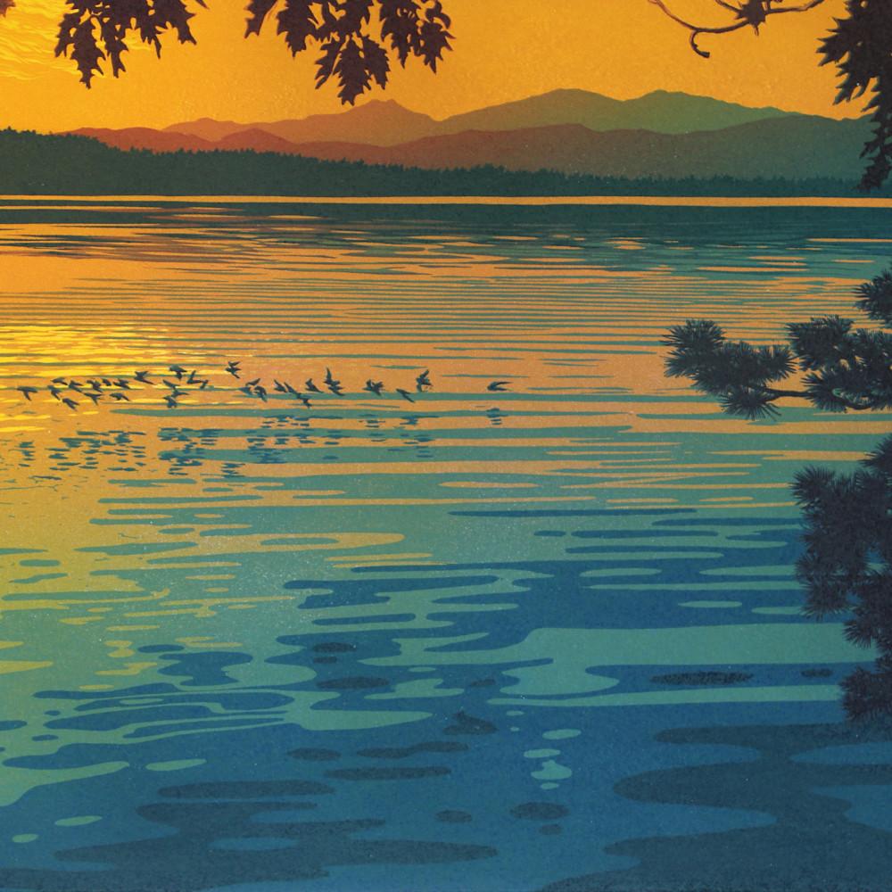 Skimming the sunset qixtta