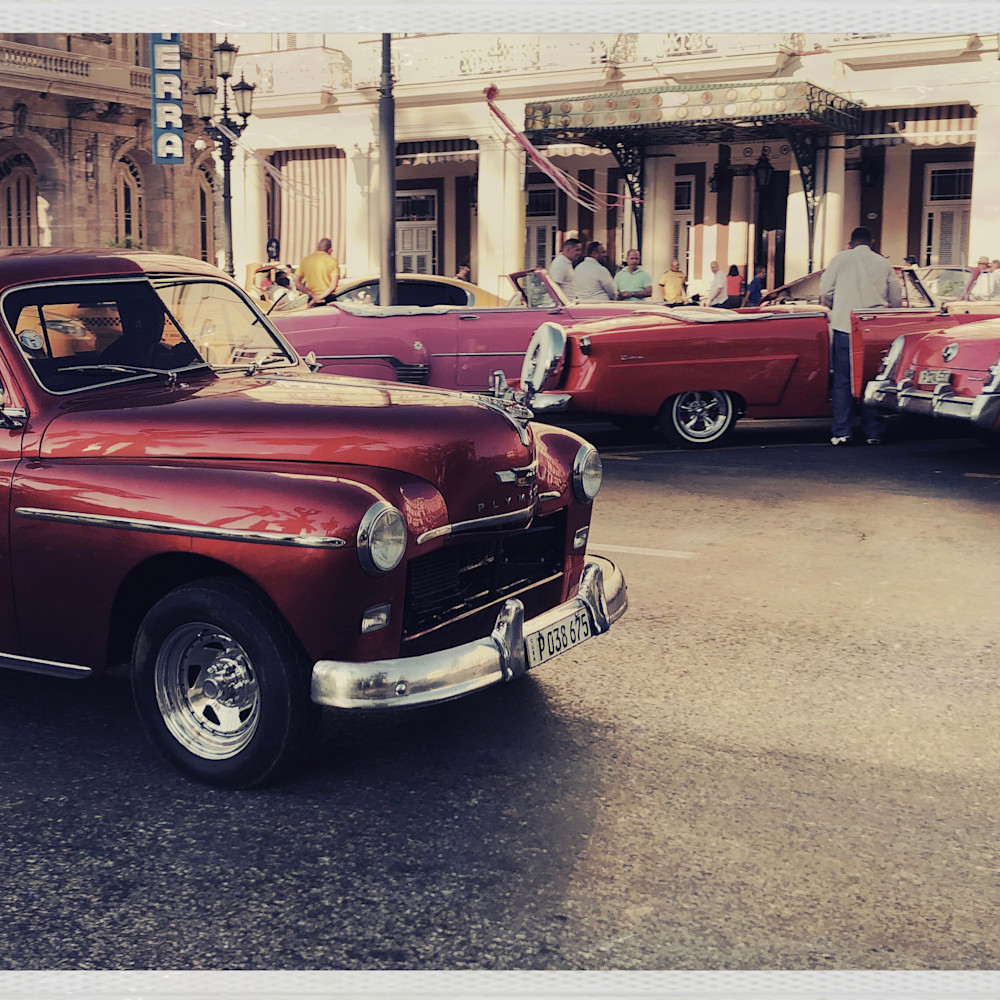 Red and pink vintage autos gppcvs