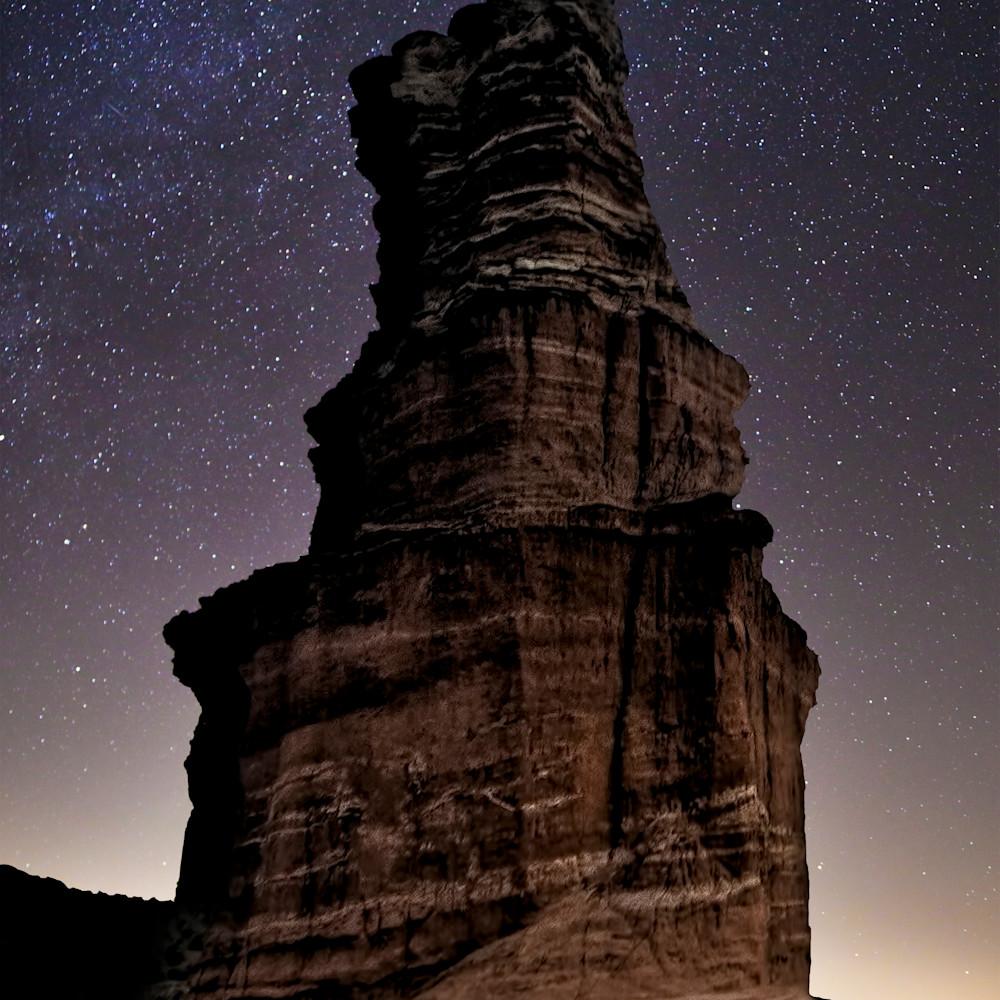 Jim livingston art pdc lighthouse at night vert 8x10 k13sky