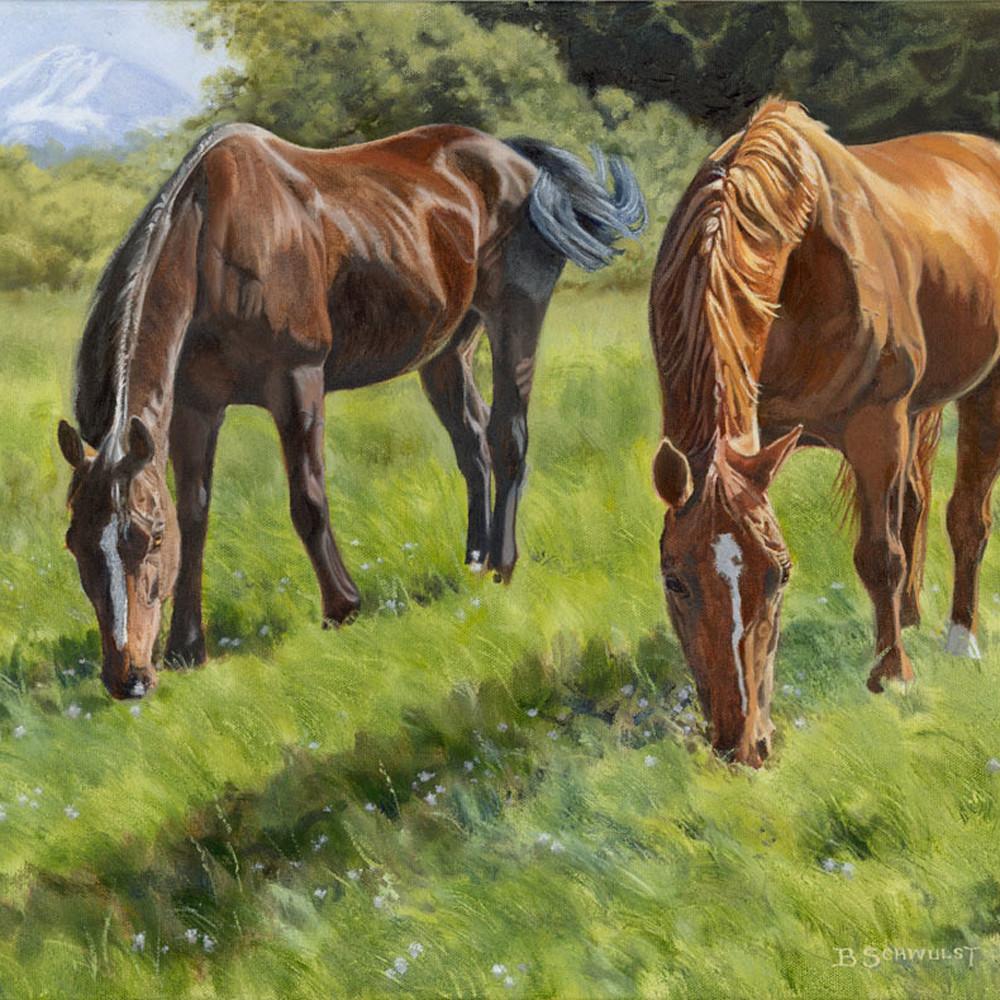 2 horses 16x20 y1sdyj
