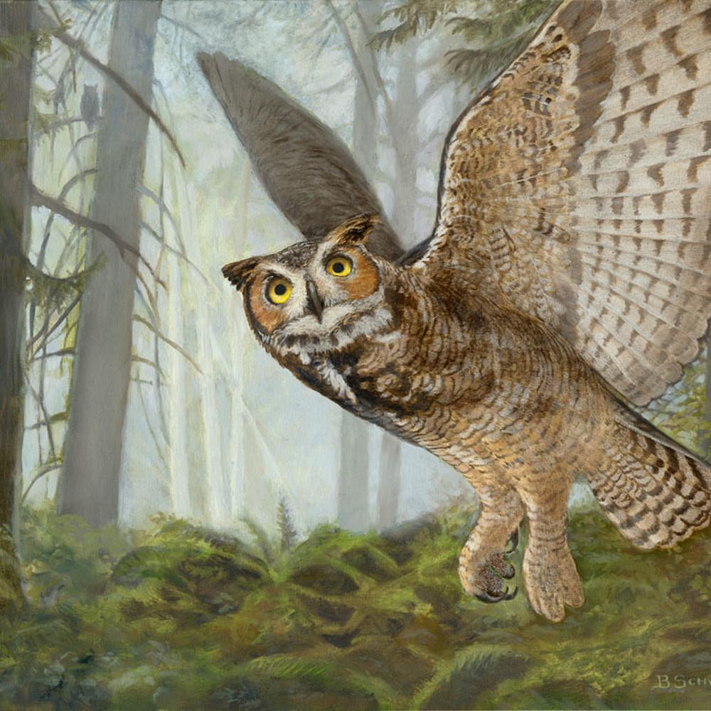 Great horned owl  18x24 1 khq2e0