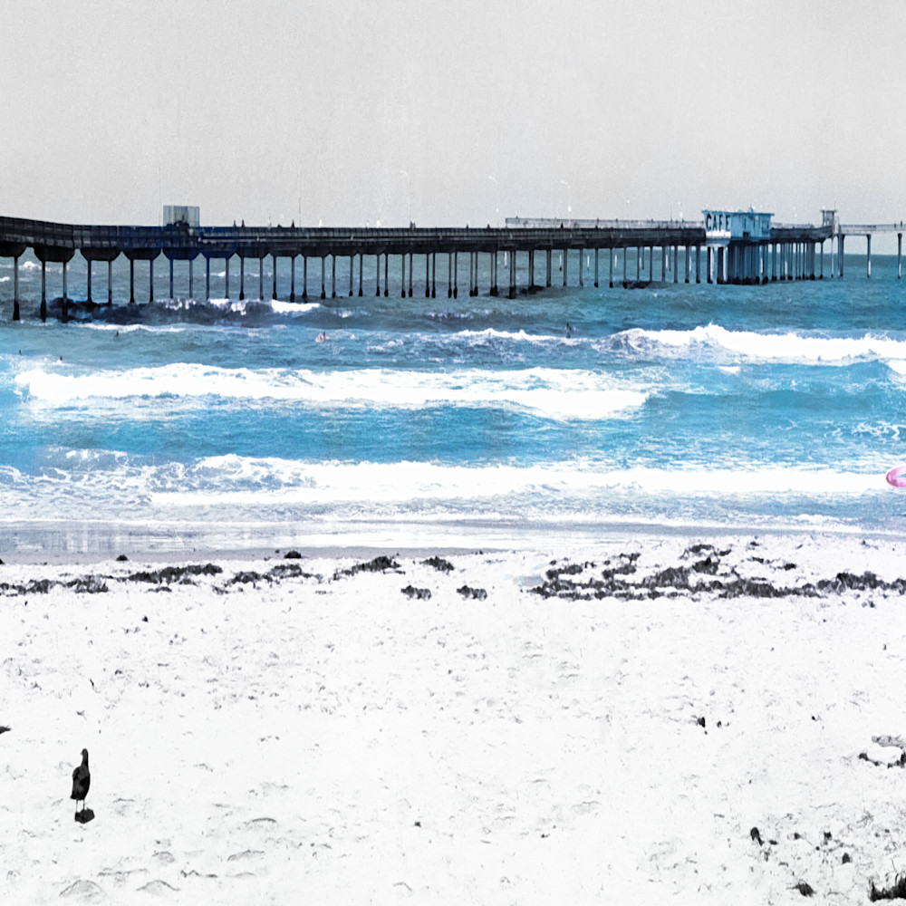 Ocean beach color bw 24 x 36 mlufvf