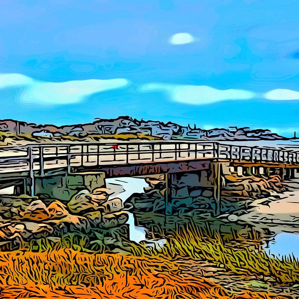 Good harbor footbridge2 16x20 kkzooq
