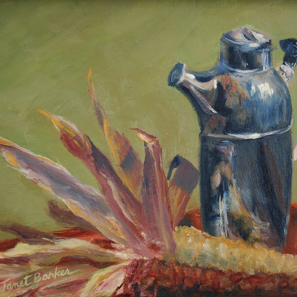 Silver pitcher with corn rllvjn