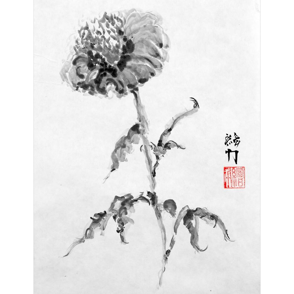 Hombretheartist sumie flower 1 forprint 111219 buqemi
