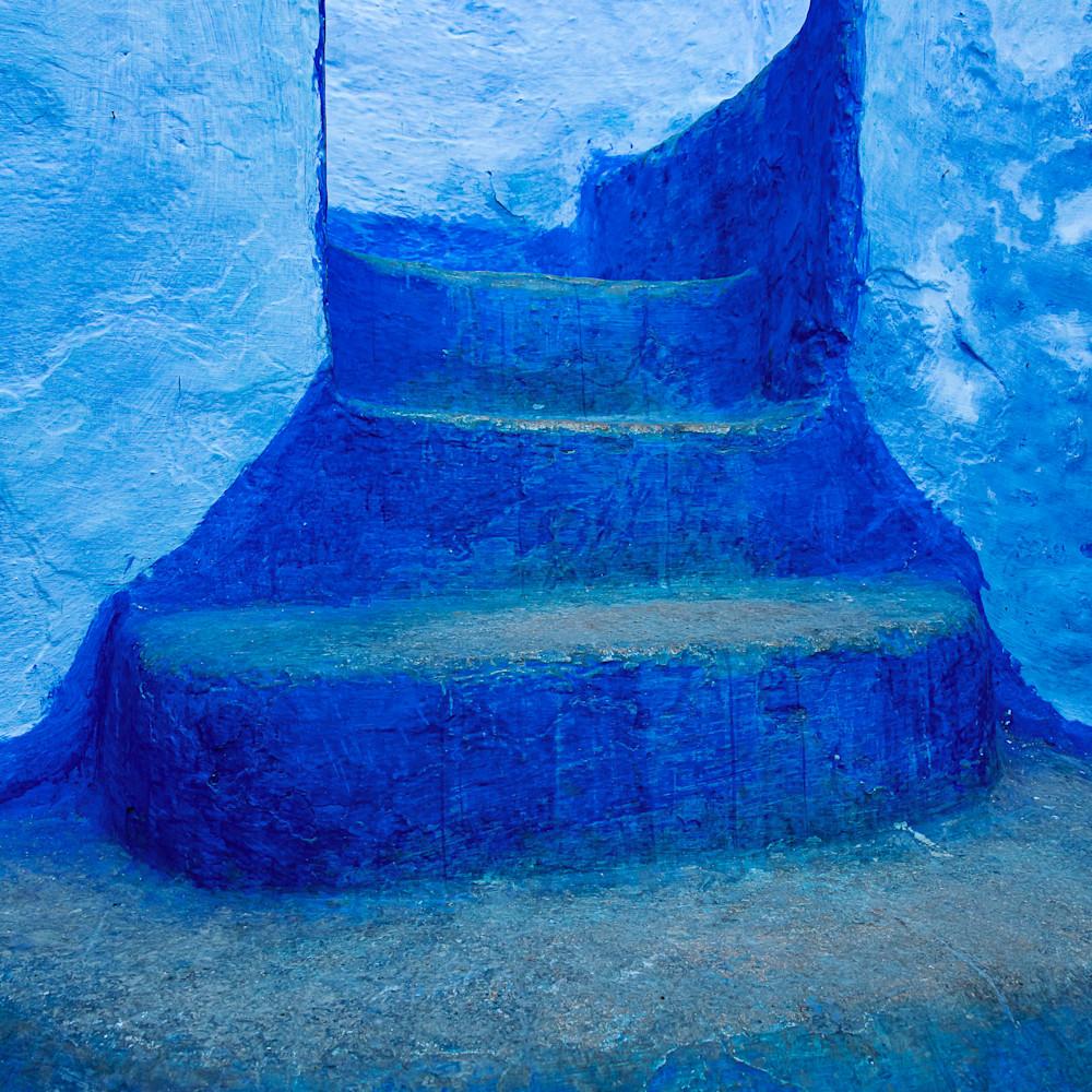 Blue steps blue city u52sky