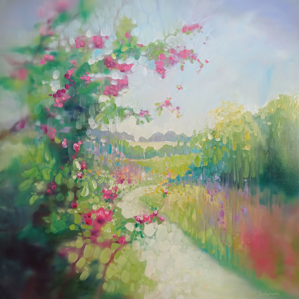 The chalk path in spring by gill bustamante 72 lqzprx