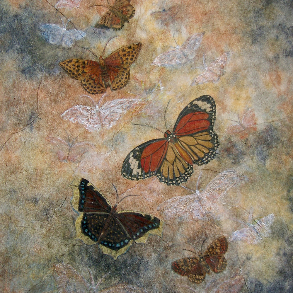 Butterfly series 1 on the wing 9.5x14 xleu0m