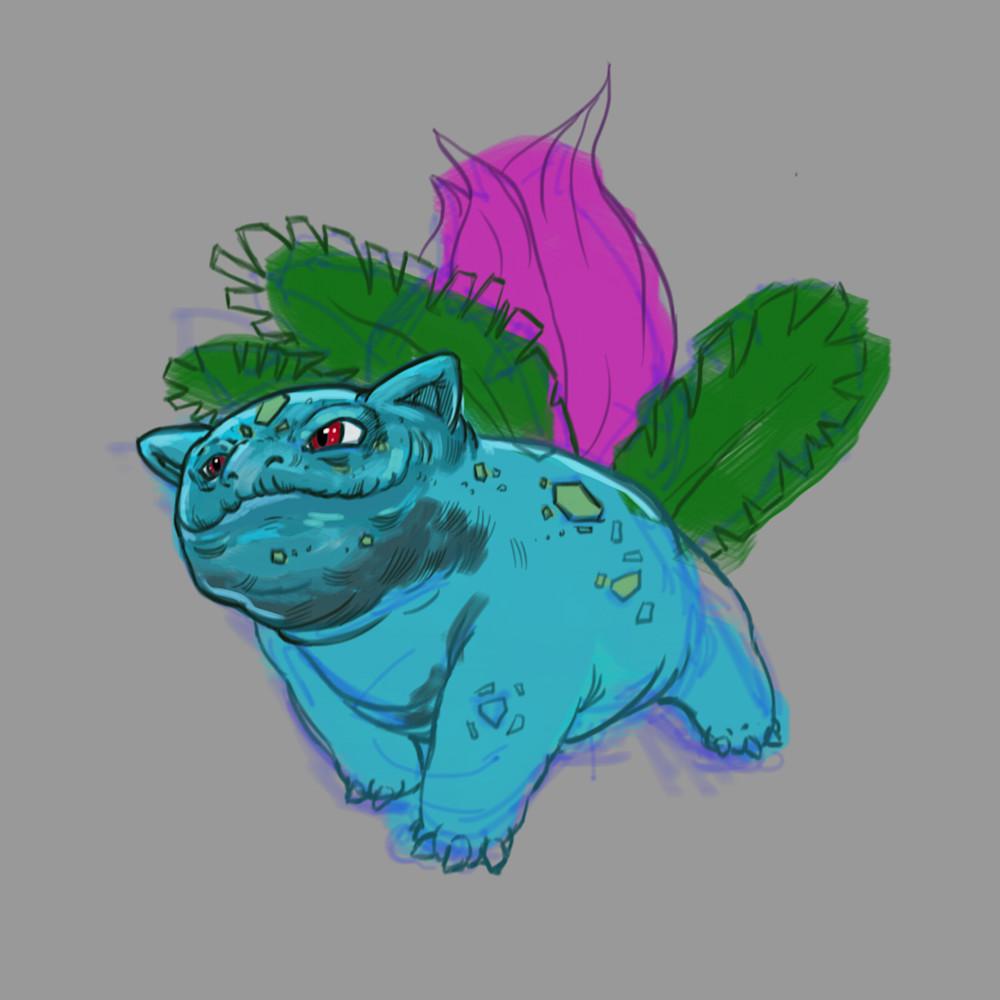 1 21 20 digital drawing 14 pokemon ivysaur 2 moayie