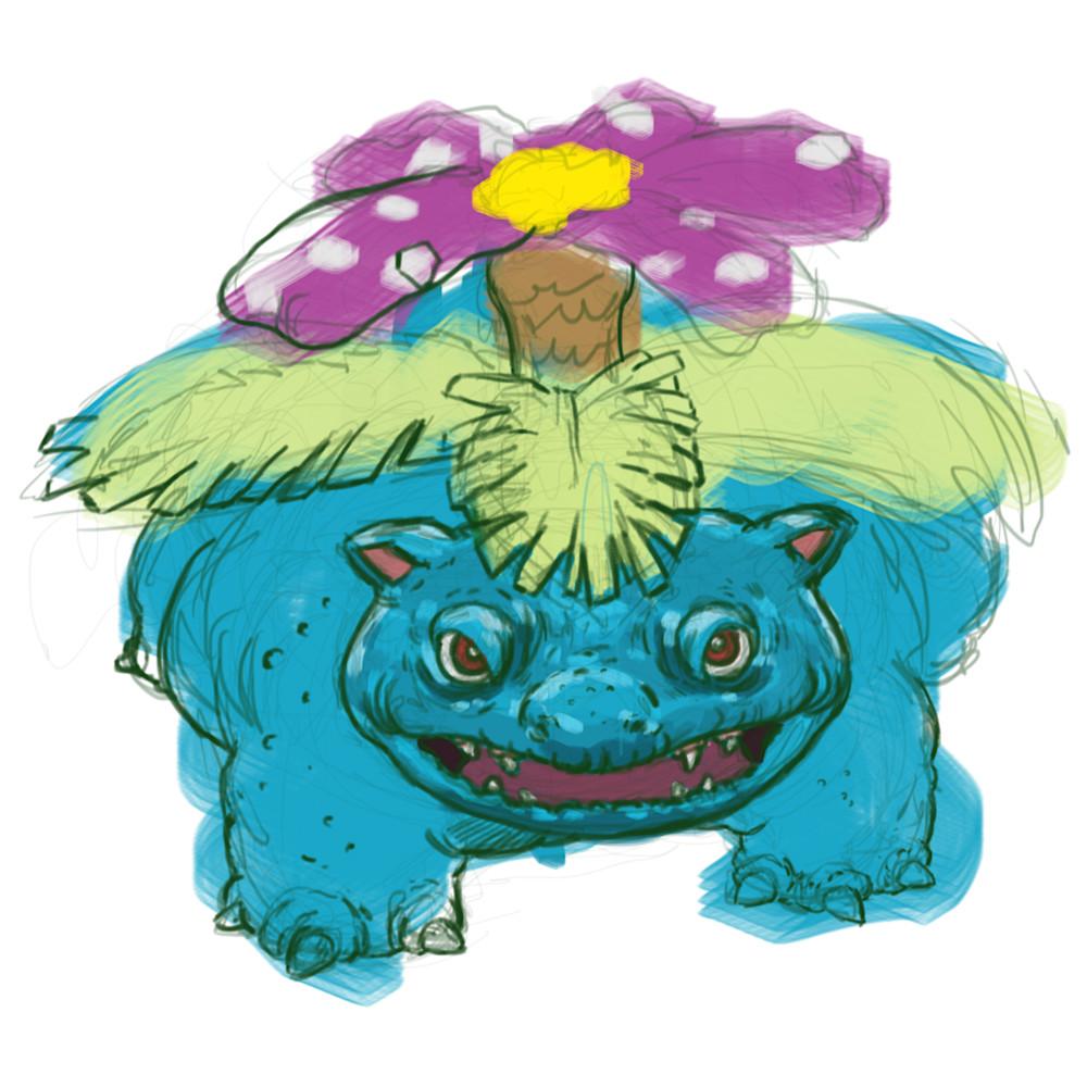 1 28 20 digital drawing 20 pokemon venusaur 1 ki90x2