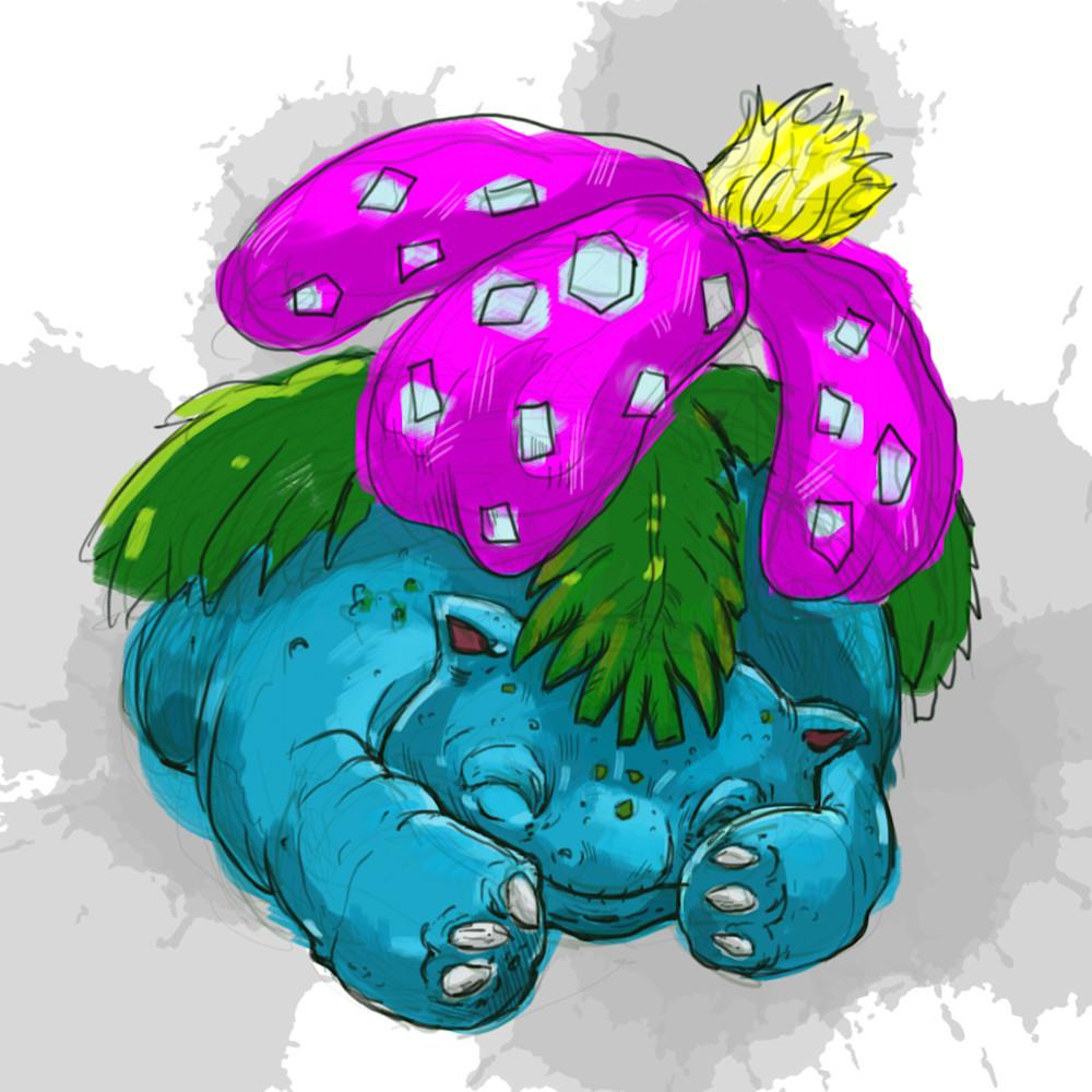 1 30 20 digital drawing 22 pokemon venusaur 3 irzxoz