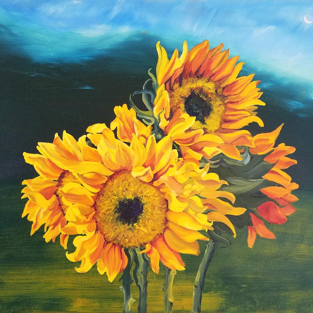 Sunflowersfortati brittanyselfe 36x24oil 2019 y4wbyh