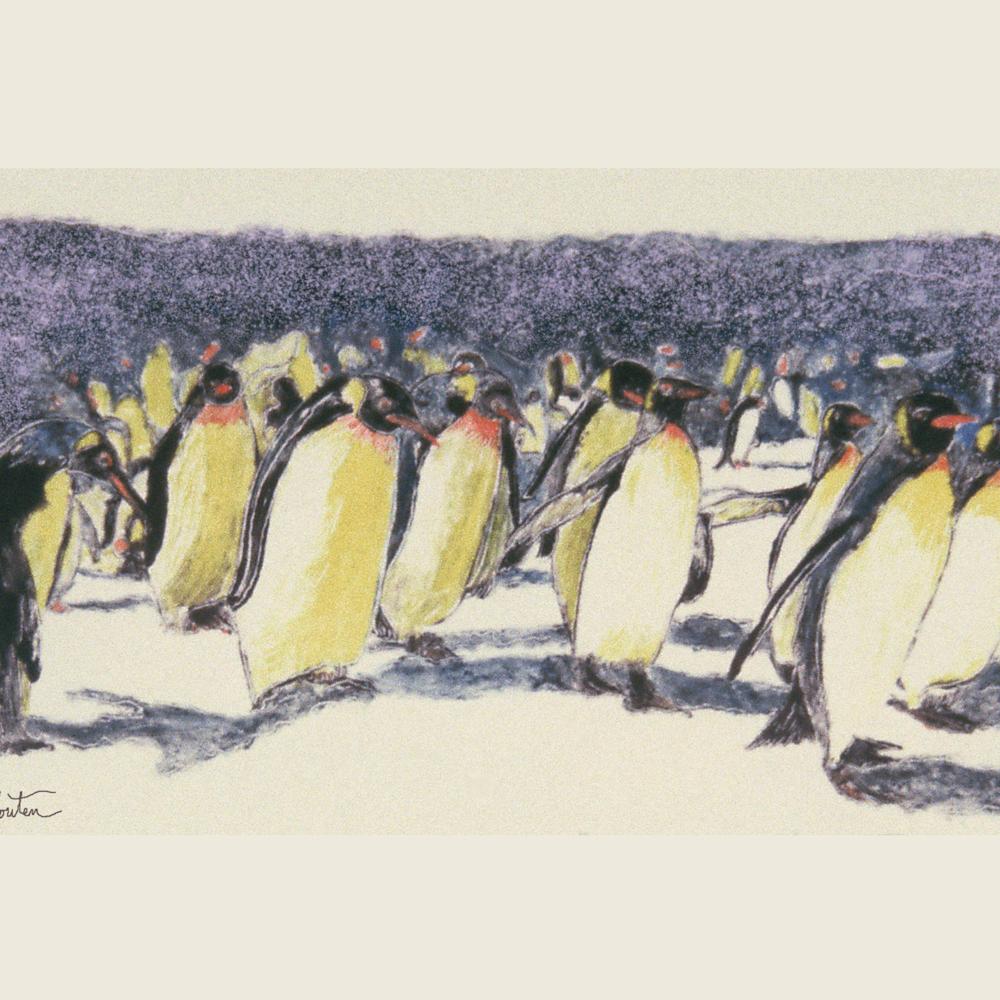 Dee van houten penguin walk giclee 2020 pq3asc