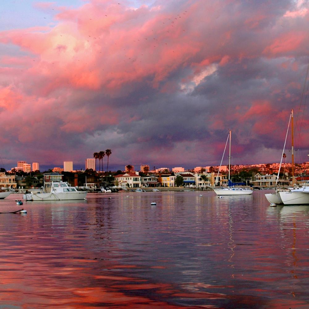 Newport bay california sunset panorama vfbthx