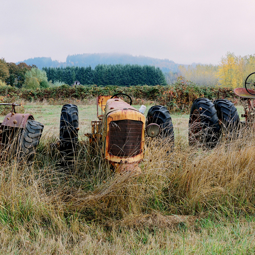 Oregon tractors panorama fall color wrujuf