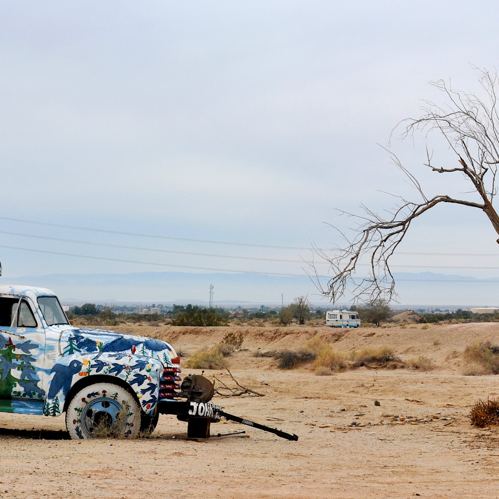 Salvation mountain repent truck california panorama y55att