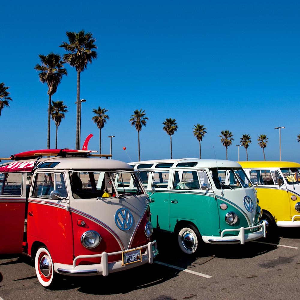 Classic vw busses huntington beach california h2exjj