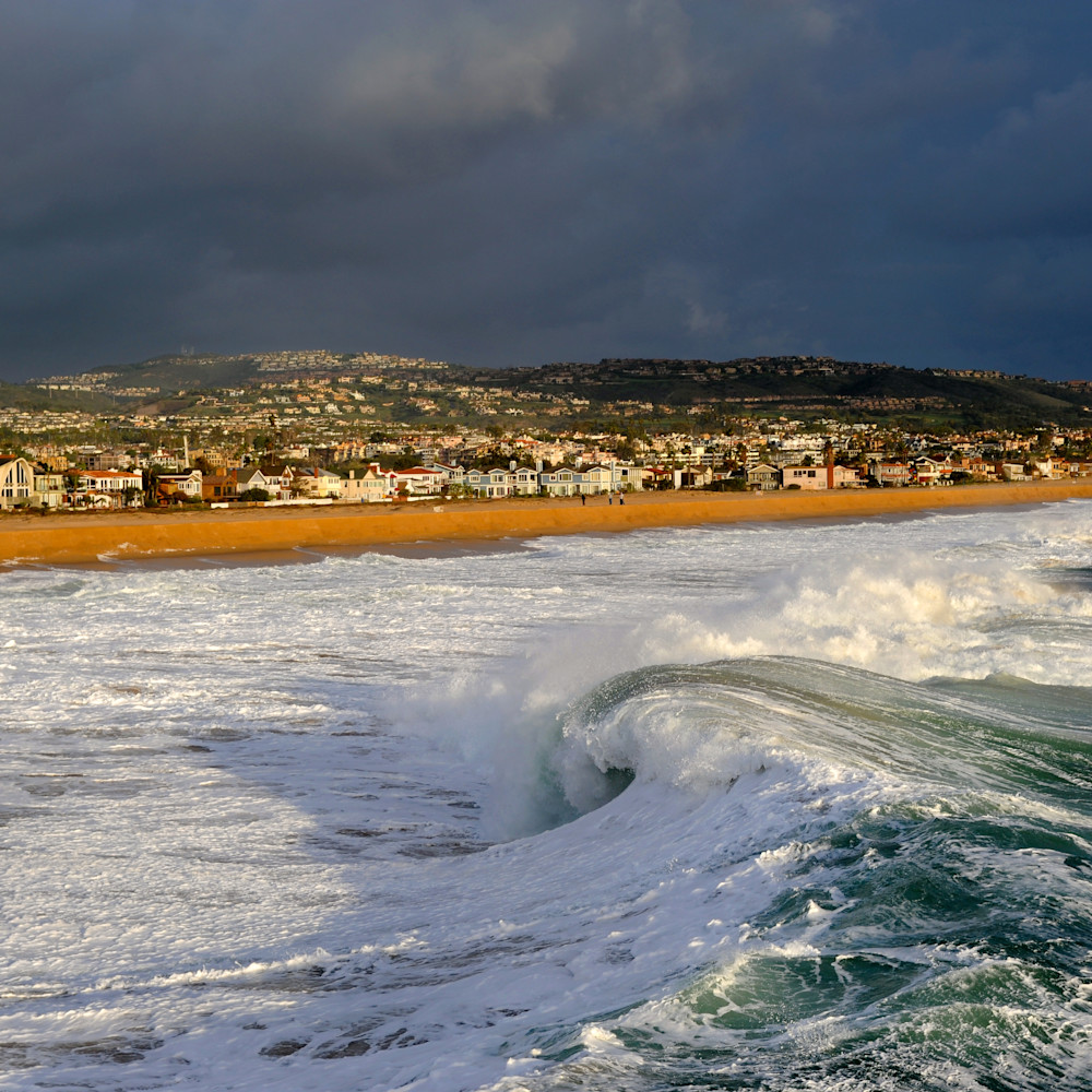 Newport beach storm surf california mbizux