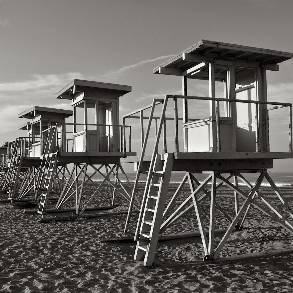 Vintage lifeguard stands bolsa chica california mg994g