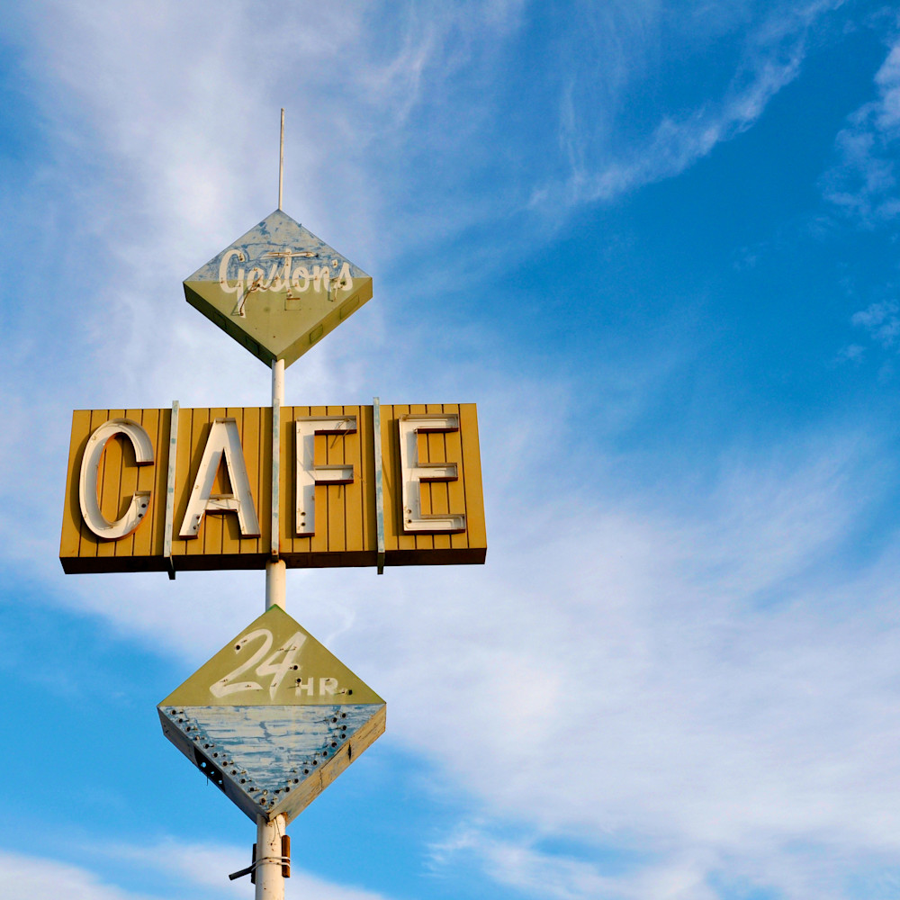 Cafe sign gastons salton sea california r25lyf