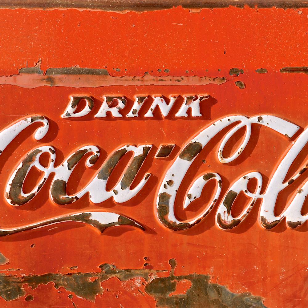 Rusty coca cola sign lf8jmy