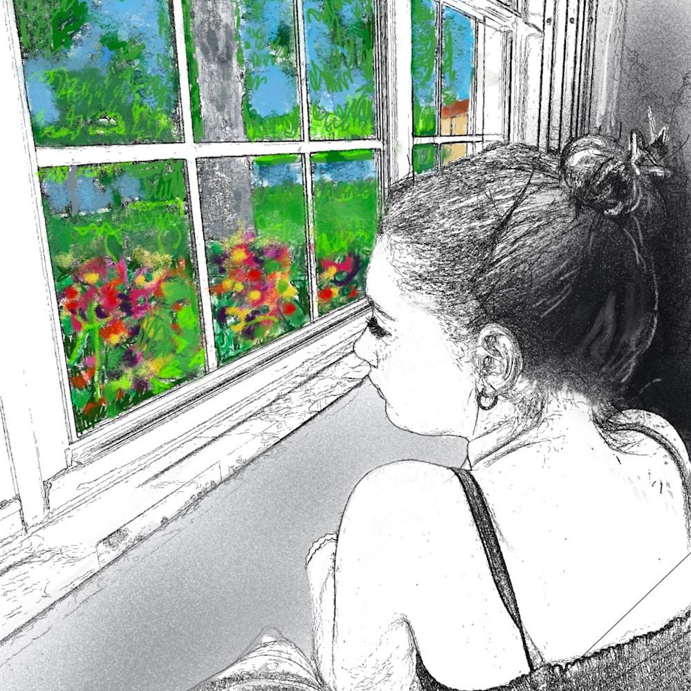 Muffy clark gill looking to leave digital art  8 x 11 in eyejh1