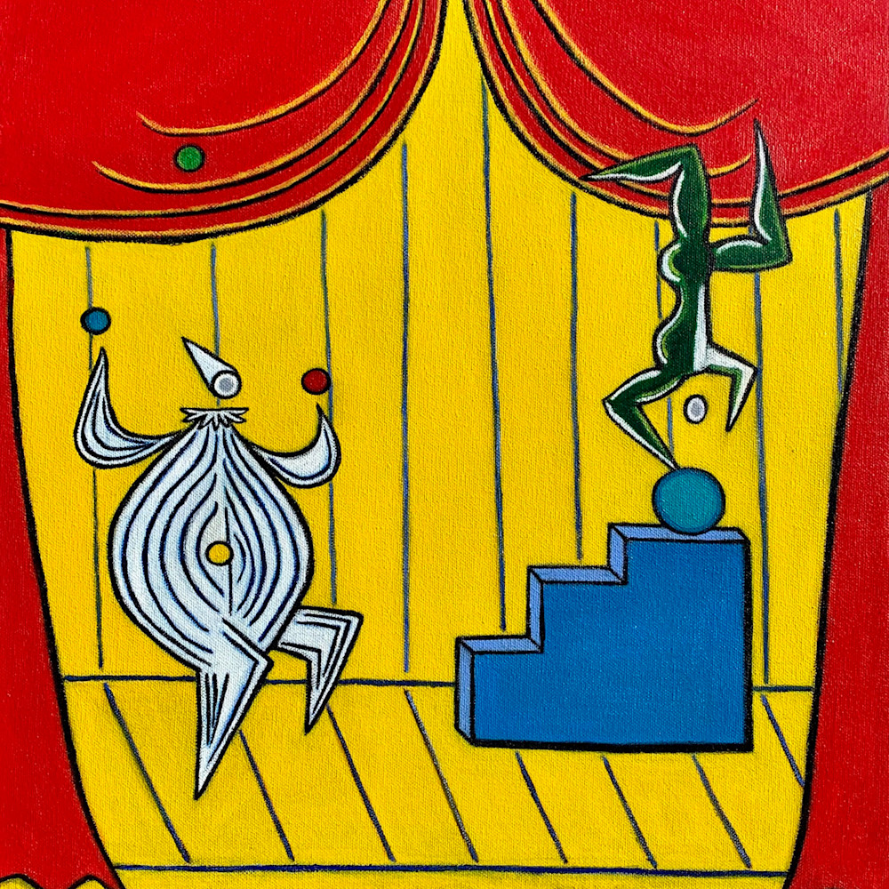 Cirque circus painting artist paul zepeda i1j32a
