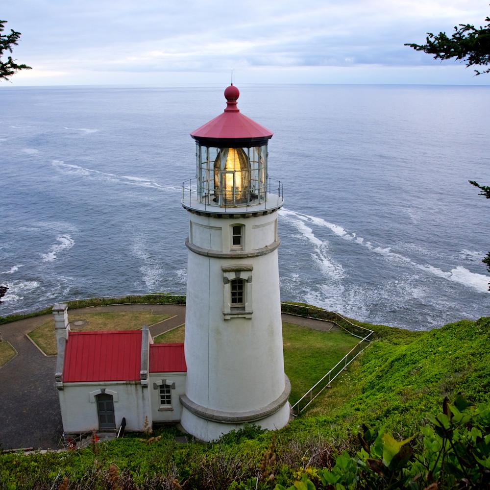 Heceta head lighthouse view oregon ludlwb