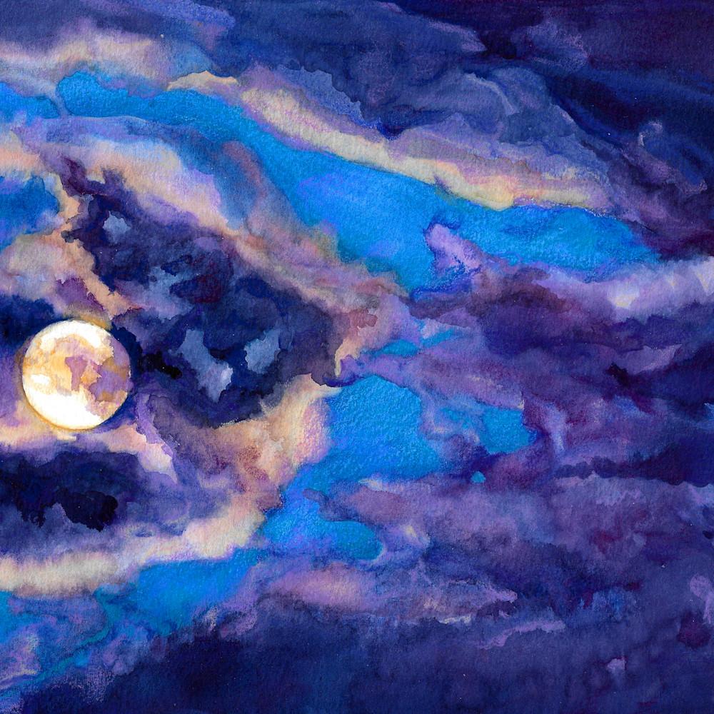 Moonlit brittanyselfe 10x8watercolor 2020 tuckpj