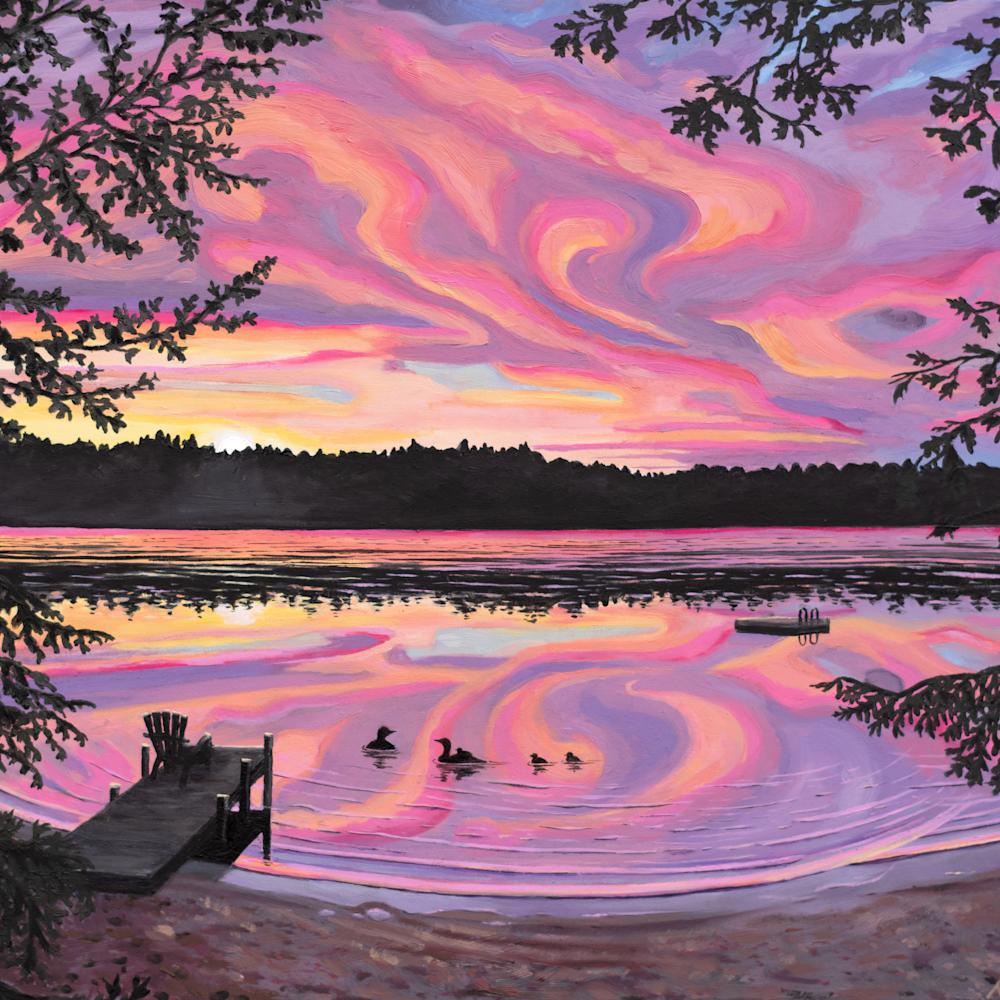 Loon lake sunset wsbqsc