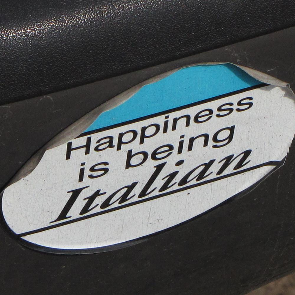 Happiness is being italian jjdqjm