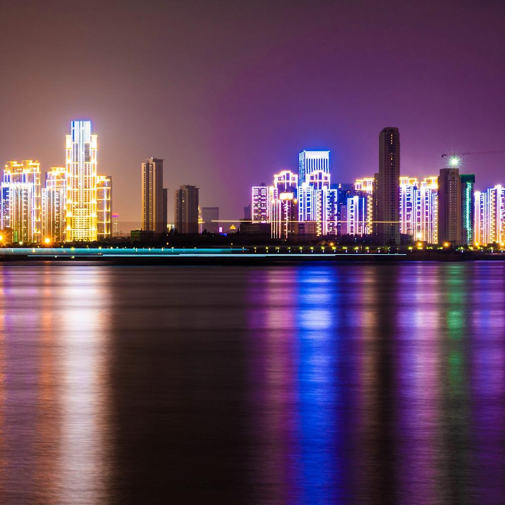 Wuhan city lights n25ypj