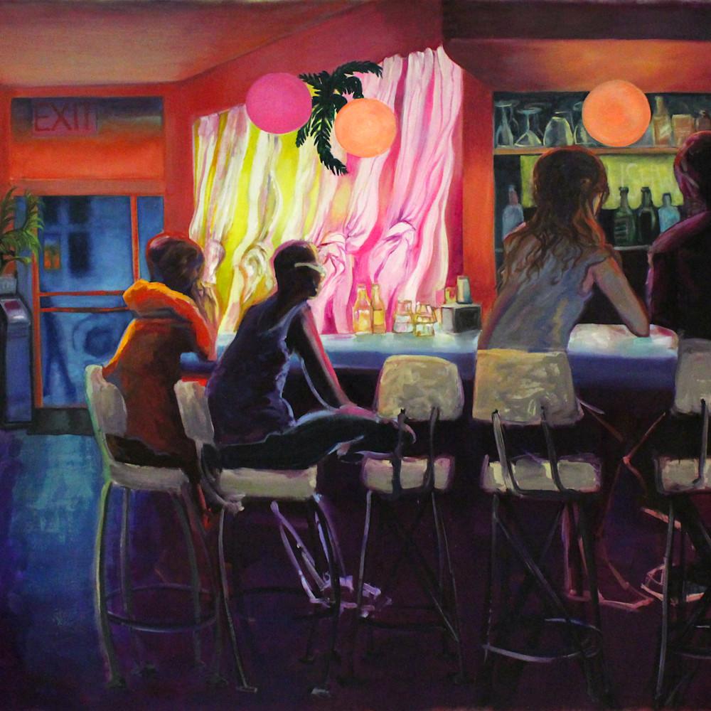 Rebeccas bar brooklyn painting michael serafino wetpaintnyc gallery snkw4n
