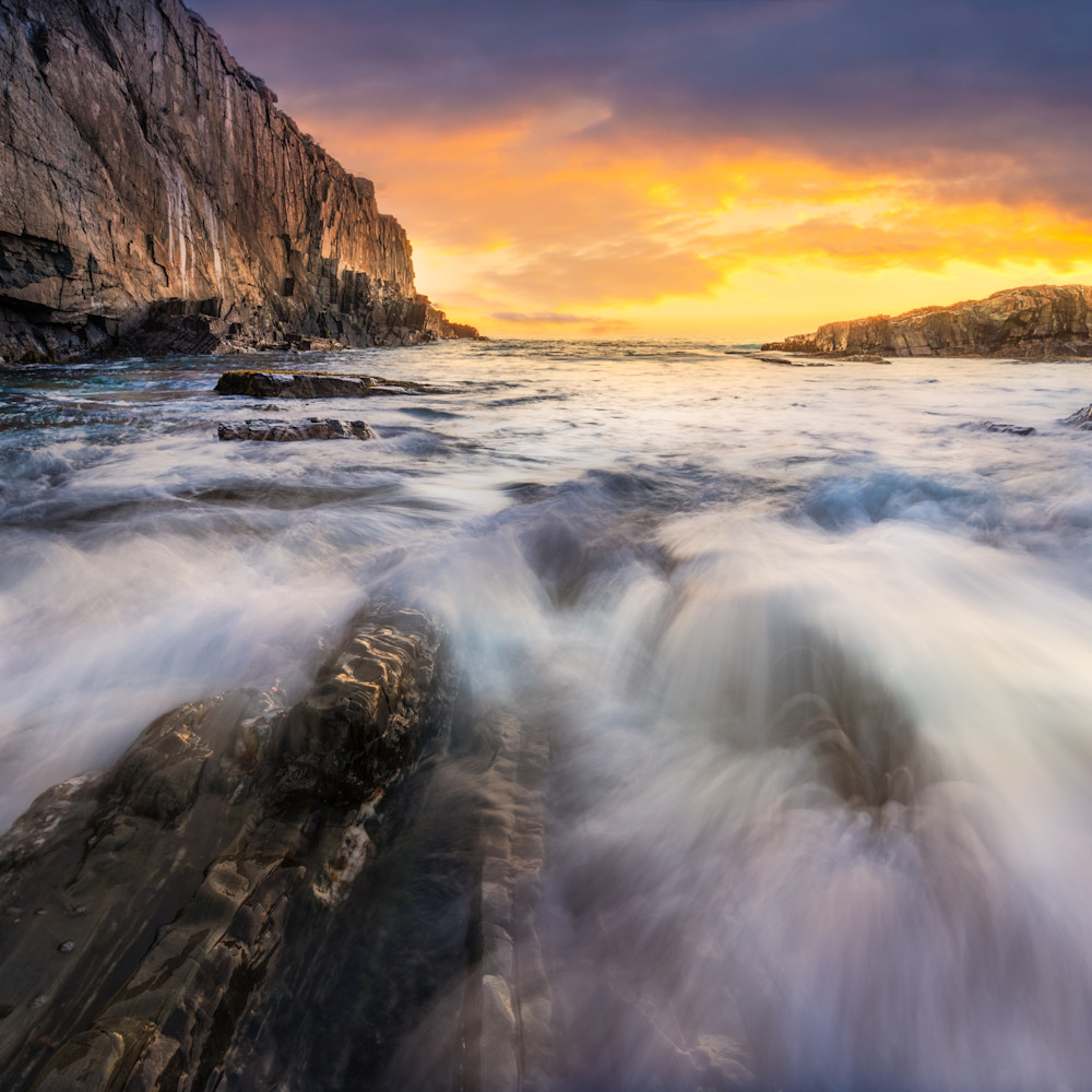 Sunrise at bald head cliff qrinct