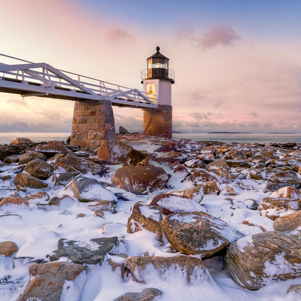 Winter morning at marshall point qocysa