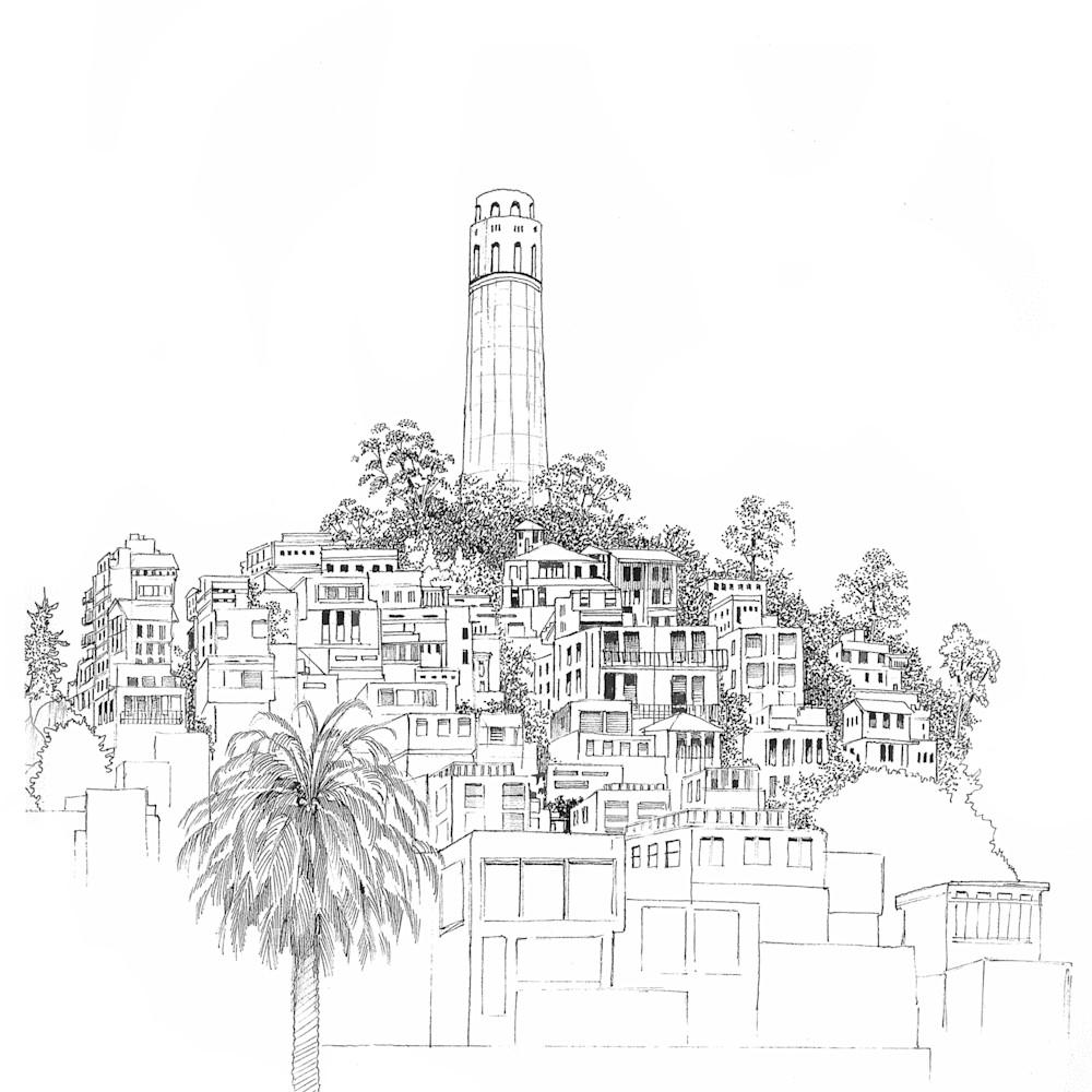 Sketch   coit tower   san francisco kttrkr