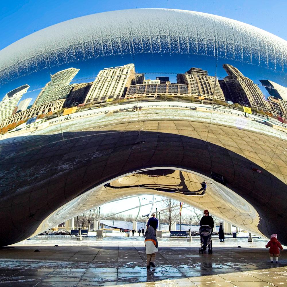 Gk889153 chicago bean in winter pano t1almb