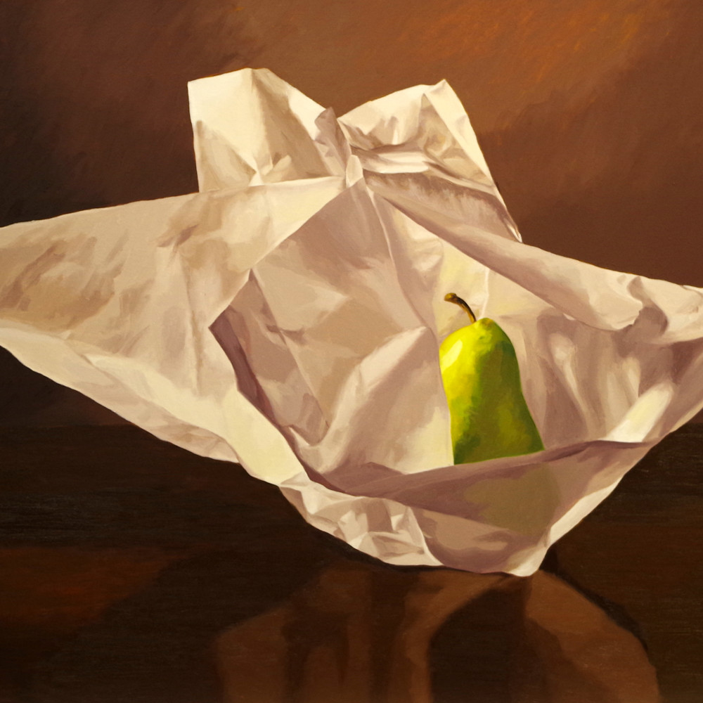 Pear wrapped in tissue paper 4 yanxnw