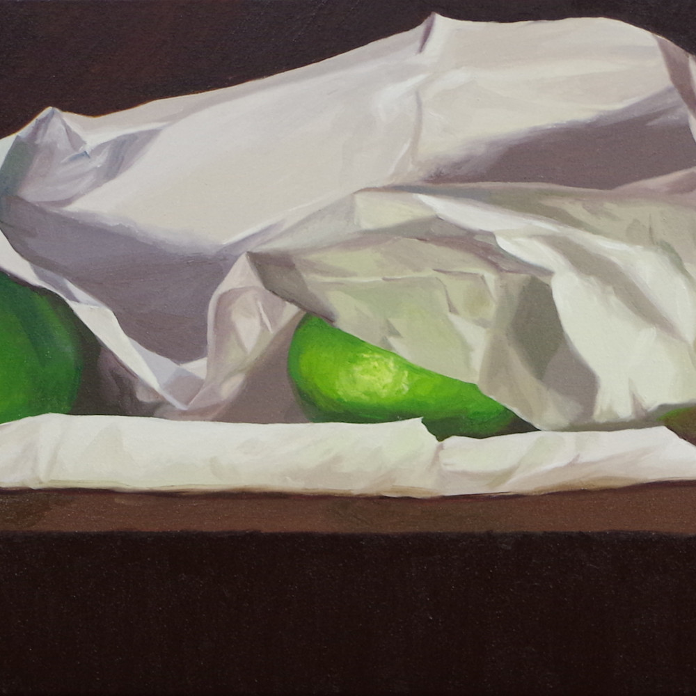 Three limes and tissue paper srspzq