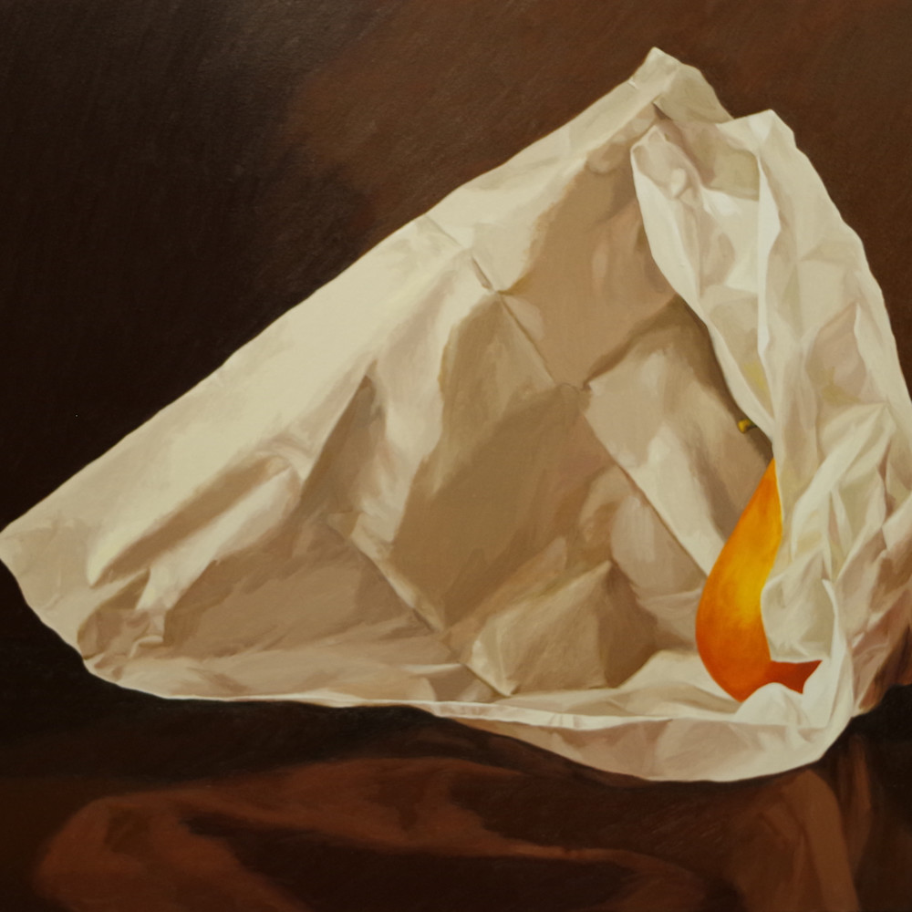 Pear wrapped in tissue paper 3 txxu1u