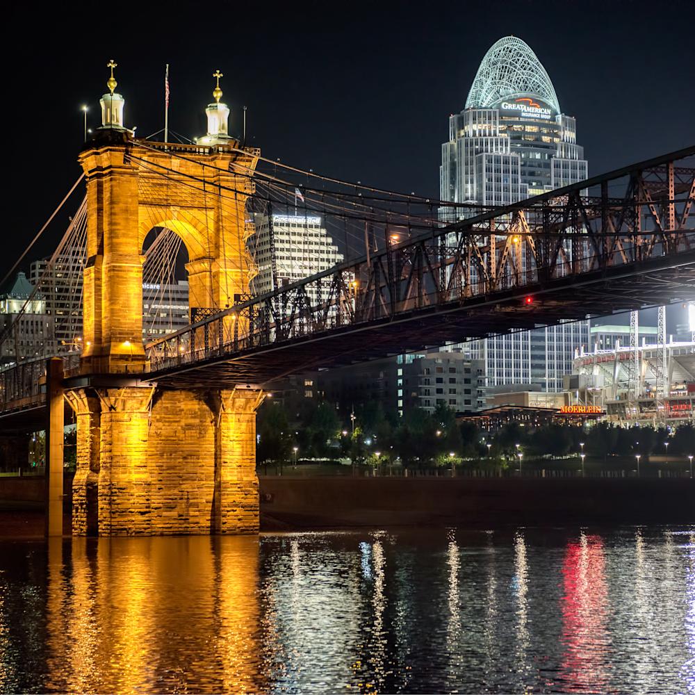 Cincinnati old and new night cityscape yogeul