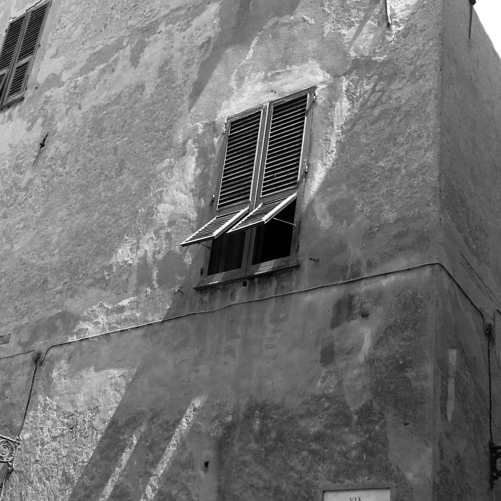 Albenga italy stucco and shuttters iu2u73