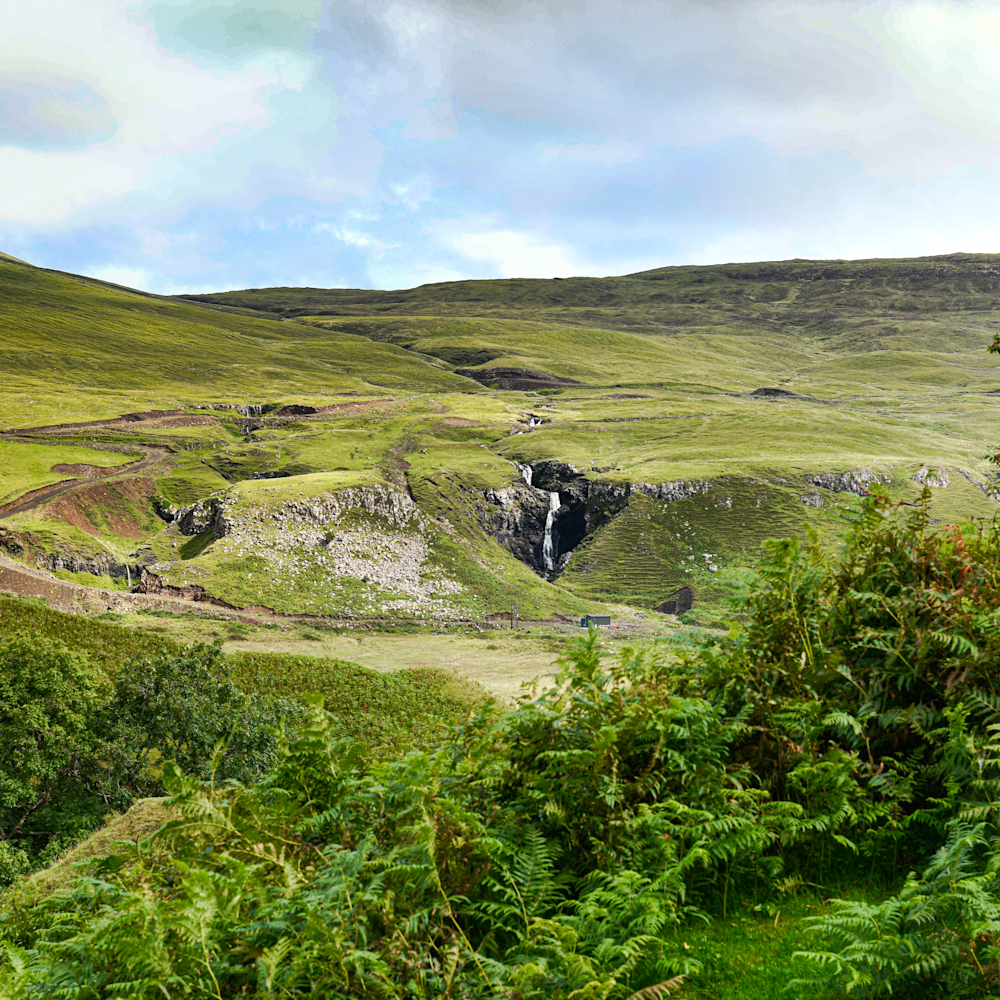 Scotland skye moors and waterfall karcy6