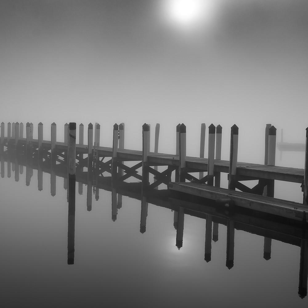 Essex dock in winter fog wcnvwh